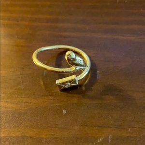 Alex and Ani Harry Potter Ring Gold Finish NEW